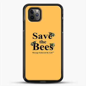 Save The Bees Golf iPhone 11 Pro Max Case, Black Rubber Case | JoeYellow.com