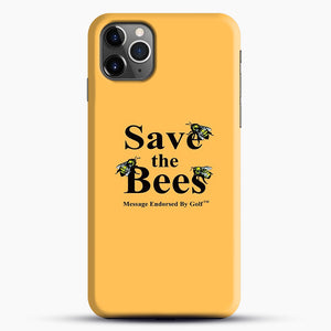 Save The Bees Golf iPhone 11 Pro Max Case, Black Snap 3D Case | JoeYellow.com