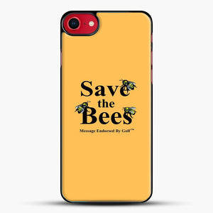 Save The Bees Golf iPhone 8 Case, Black Plastic Case | JoeYellow.com