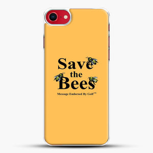 Save The Bees Golf iPhone 8 Case, White Plastic Case | JoeYellow.com