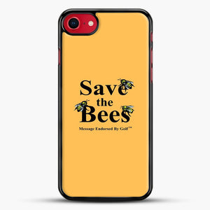 Save The Bees Golf iPhone 8 Case, Black Rubber Case | JoeYellow.com