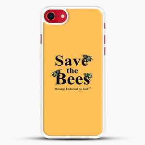 Save The Bees Golf iPhone 8 Case, White Rubber Case | JoeYellow.com