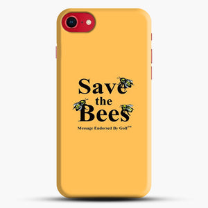 Save The Bees Golf iPhone 8 Case, Black Snap 3D Case | JoeYellow.com