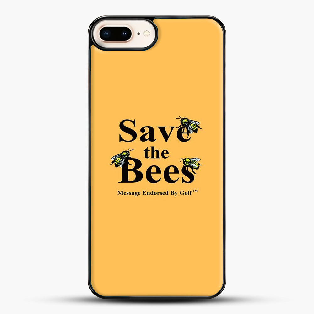Save The Bees Golf iPhone 8 Plus Case, Black Plastic Case | JoeYellow.com