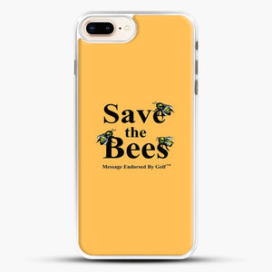 Save The Bees Golf iPhone 8 Plus Case, White Rubber Case | JoeYellow.com