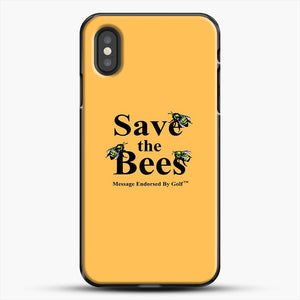 Save The Bees Golf iPhone XS Case, Black Plastic Case | JoeYellow.com