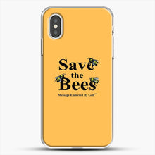 Load image into Gallery viewer, Save The Bees Golf iPhone XS Case, White Plastic Case | JoeYellow.com