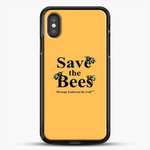 Load image into Gallery viewer, Save The Bees Golf iPhone XS Case, Black Rubber Case | JoeYellow.com