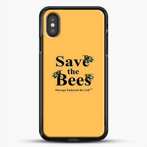Save The Bees Golf iPhone XS Case, Black Rubber Case | JoeYellow.com