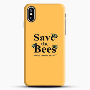 Save The Bees Golf iPhone XS Case, Black Snap 3D Case | JoeYellow.com