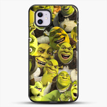 Load image into Gallery viewer, Shrek Collage iPhone 11 Case, Black Plastic Case | JoeYellow.com