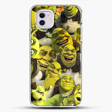 Load image into Gallery viewer, Shrek Collage iPhone 11 Case, White Plastic Case | JoeYellow.com