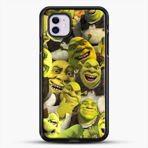 Shrek Collage iPhone 11 Case, Black Rubber Case | JoeYellow.com