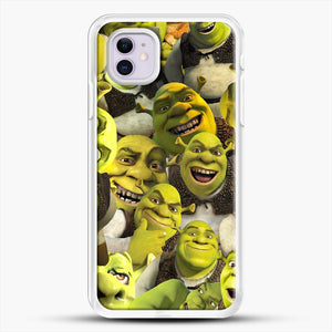 Shrek Collage iPhone 11 Case, White Rubber Case | JoeYellow.com