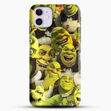 Load image into Gallery viewer, Shrek Collage iPhone 11 Case, Black Snap 3D Case | JoeYellow.com