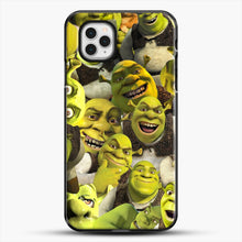 Load image into Gallery viewer, Shrek Collage iPhone 11 Pro Case, Black Plastic Case | JoeYellow.com
