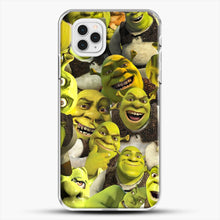 Load image into Gallery viewer, Shrek Collage iPhone 11 Pro Case, White Plastic Case | JoeYellow.com