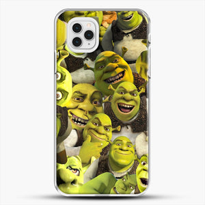 Shrek Collage iPhone 11 Pro Case, White Plastic Case | JoeYellow.com
