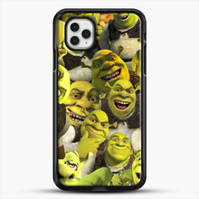 Load image into Gallery viewer, Shrek Collage iPhone 11 Pro Case, Black Rubber Case | JoeYellow.com