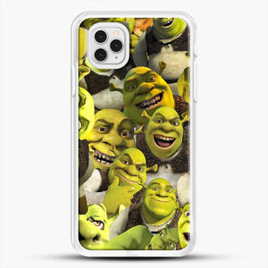 Shrek Collage iPhone 11 Pro Case, White Rubber Case | JoeYellow.com