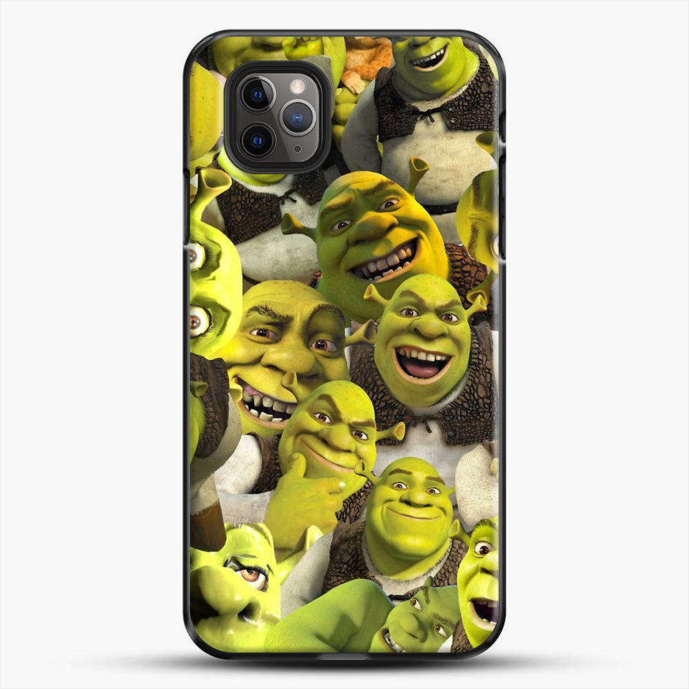 Shrek Collage iPhone 11 Pro Max Case, Black Plastic Case | JoeYellow.com