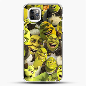 Shrek Collage iPhone 11 Pro Max Case, White Plastic Case | JoeYellow.com