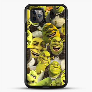 Shrek Collage iPhone 11 Pro Max Case, Black Rubber Case | JoeYellow.com
