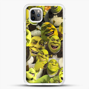 Shrek Collage iPhone 11 Pro Max Case, White Rubber Case | JoeYellow.com