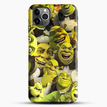 Load image into Gallery viewer, Shrek Collage iPhone 11 Pro Max Case, Black Snap 3D Case | JoeYellow.com