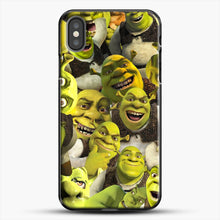 Load image into Gallery viewer, Shrek Collage iPhone X Case, Black Plastic Case | JoeYellow.com