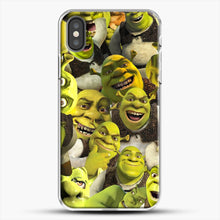 Load image into Gallery viewer, Shrek Collage iPhone X Case, White Plastic Case | JoeYellow.com