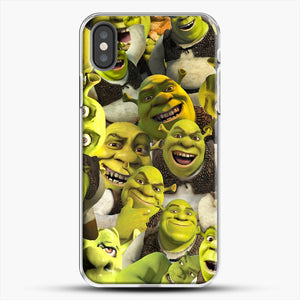 Shrek Collage iPhone X Case, White Plastic Case | JoeYellow.com