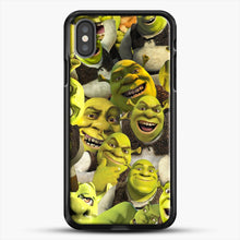 Load image into Gallery viewer, Shrek Collage iPhone X Case, Black Rubber Case | JoeYellow.com