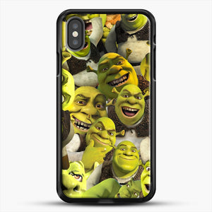 Shrek Collage iPhone X Case, Black Rubber Case | JoeYellow.com
