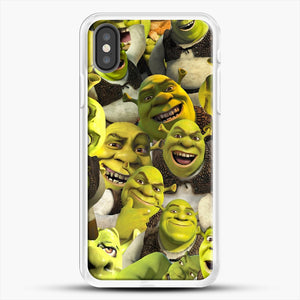Shrek Collage iPhone X Case, White Rubber Case | JoeYellow.com