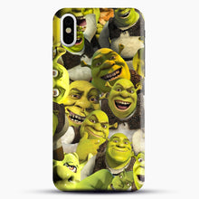 Load image into Gallery viewer, Shrek Collage iPhone X Case, Black Snap 3D Case | JoeYellow.com
