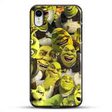 Load image into Gallery viewer, Shrek Collage iPhone XR Case, Black Plastic Case | JoeYellow.com