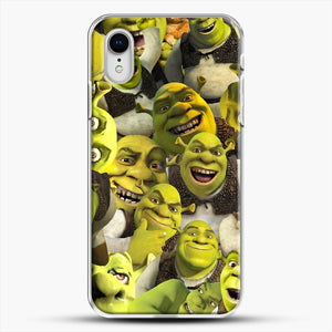 Shrek Collage iPhone XR Case, White Plastic Case | JoeYellow.com