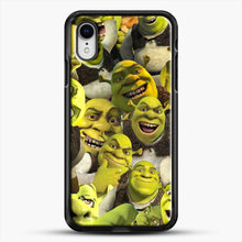 Load image into Gallery viewer, Shrek Collage iPhone XR Case, Black Rubber Case | JoeYellow.com