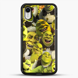 Shrek Collage iPhone XR Case, Black Rubber Case | JoeYellow.com
