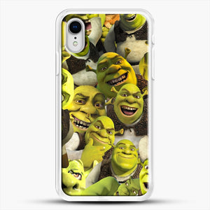 Shrek Collage iPhone XR Case, White Rubber Case | JoeYellow.com