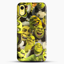 Load image into Gallery viewer, Shrek Collage iPhone XR Case, Black Snap 3D Case | JoeYellow.com
