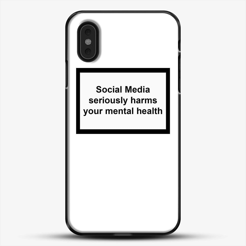 Social Media Seriously Harms Your Mental Health iPhone XS Max Case, Black Plastic Case | JoeYellow.com