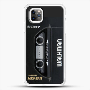 Sony Walkman iPhone 11 Pro Max Case, White Rubber Case | JoeYellow.com