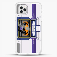 Load image into Gallery viewer, Soundwave iPhone 11 Pro Case, White Rubber Case | JoeYellow.com