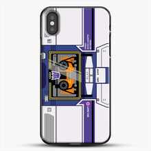 Load image into Gallery viewer, Soundwave iPhone X Case, Black Plastic Case | JoeYellow.com