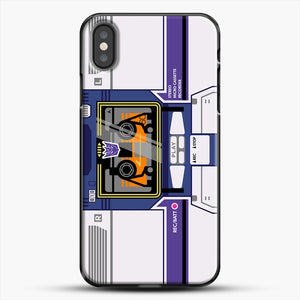 Soundwave iPhone X Case, Black Plastic Case | JoeYellow.com