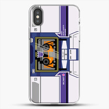 Load image into Gallery viewer, Soundwave iPhone X Case, White Plastic Case | JoeYellow.com
