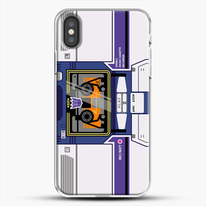 Soundwave iPhone X Case, White Plastic Case | JoeYellow.com
