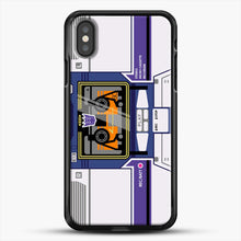 Load image into Gallery viewer, Soundwave iPhone X Case, Black Rubber Case | JoeYellow.com